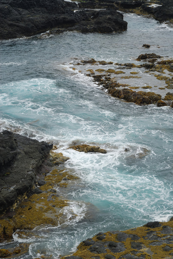 Rocky sea shore stock photo
