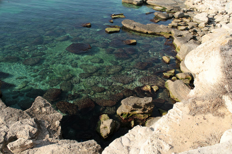 Download Rocky shore. stock image. Image of clear, marine, calm - 17383323