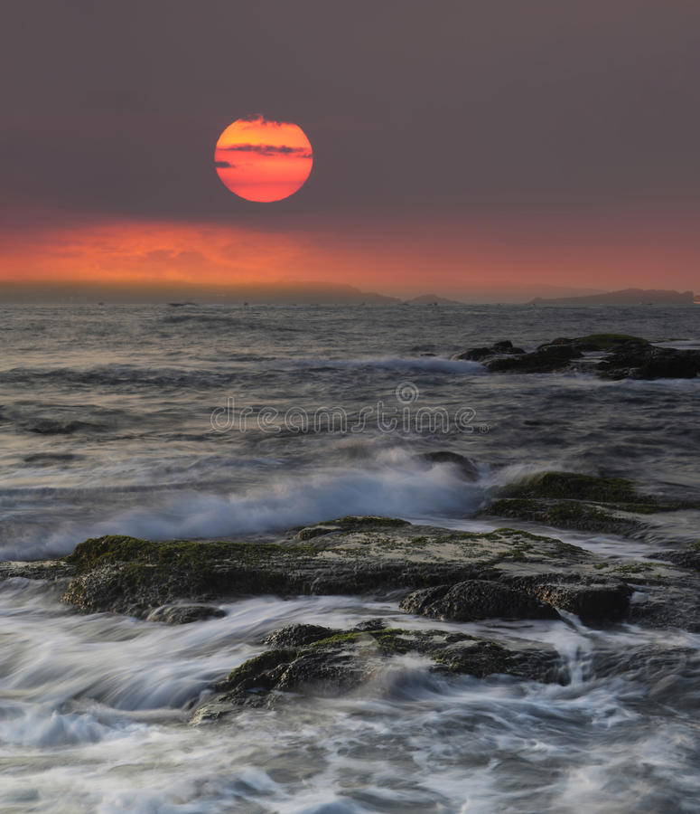 Download Rocky shore stock photo. Image of peaceful, storming - 22168338