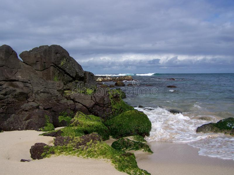 Download Rocky shore stock image. Image of blue, coast, clouds - 26609767