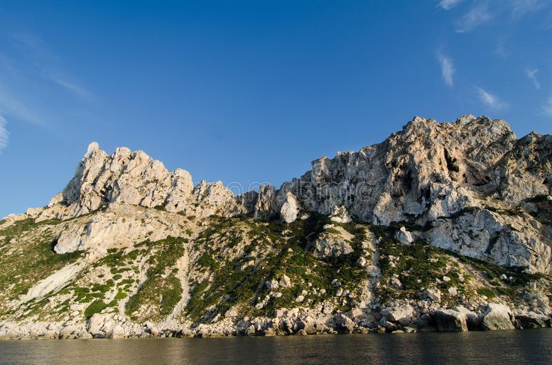 Es vedra island, Ibiza royalty free stock images