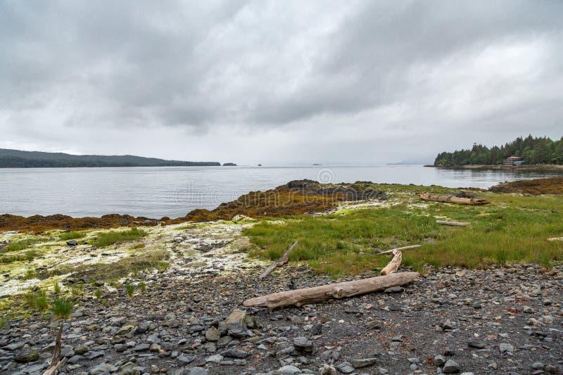 Rocky Shore nell'Alaska immagine stock