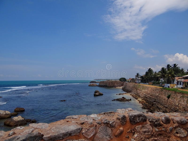Rocky shore, Sri Lanka stock images