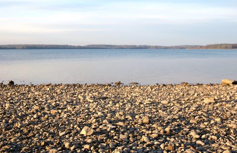 Download Rocky shoreline stock photo. Image of vista, gravel, panoramic - 3945914