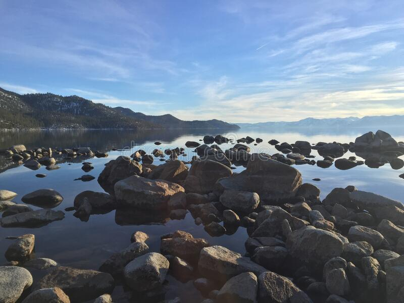 Rocky Shoreline Of Lake Tahoe Free Public Domain Cc0 Image