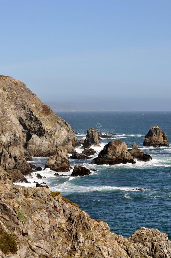 Rocky Shoreline Near Bodega Bay Stock Photo