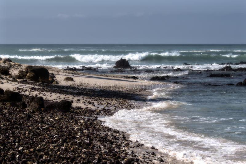Rocky Shoreline of the Ocean in Punta Mit Mexico. On a Beautiful Sunny Day royalty free stock photos