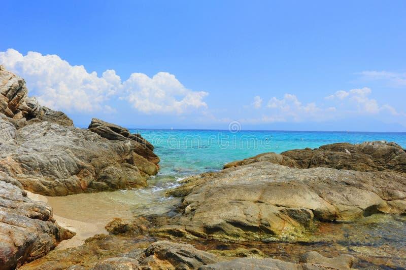 Rocky Shores Of The Aegean Sea Stock Photos