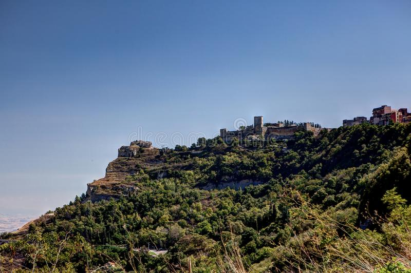 Sicilian landscape, mountains, Enna, Sicily, Italy royalty free stock photography