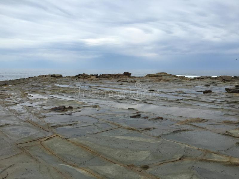 Rocky sky cape Patterson stock photo