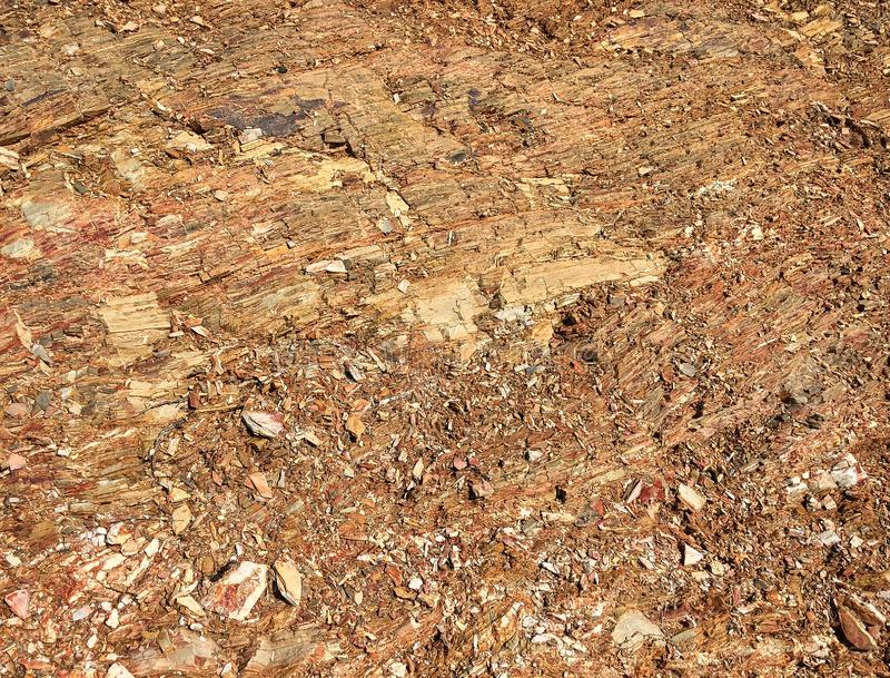 Rocky soil, stone crumb, rock formation as a background stock photography
