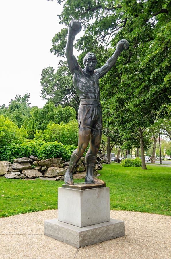 Rocky Statue in Philadelphia royalty free stock photos