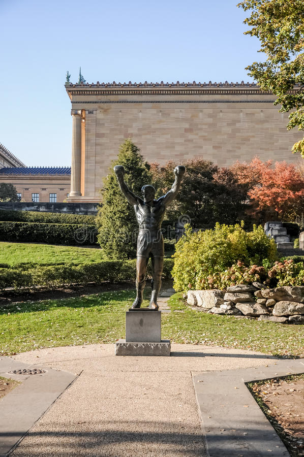 Rocky statue in Philadelphia royalty free stock image