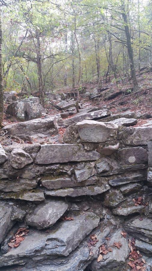 Rocky Steps royaltyfria bilder