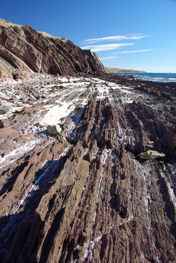 Rocky strata in Hallet Cove stock photos
