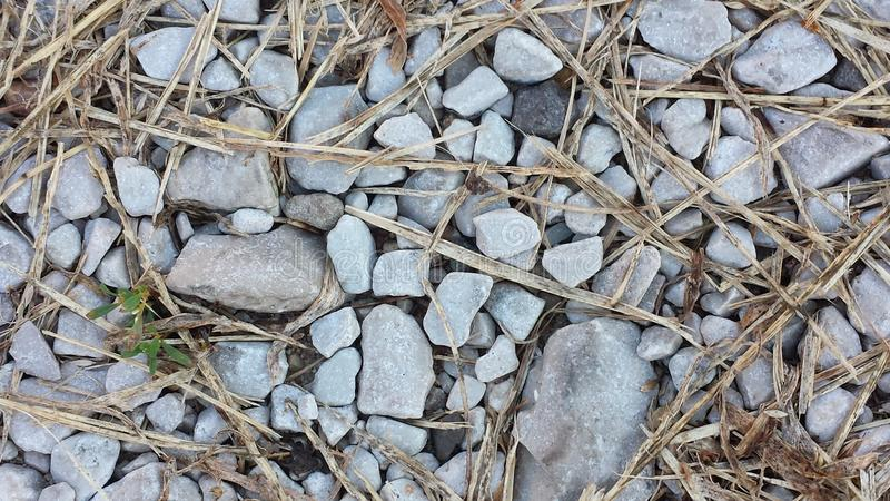 Rocky straw royalty free stock images