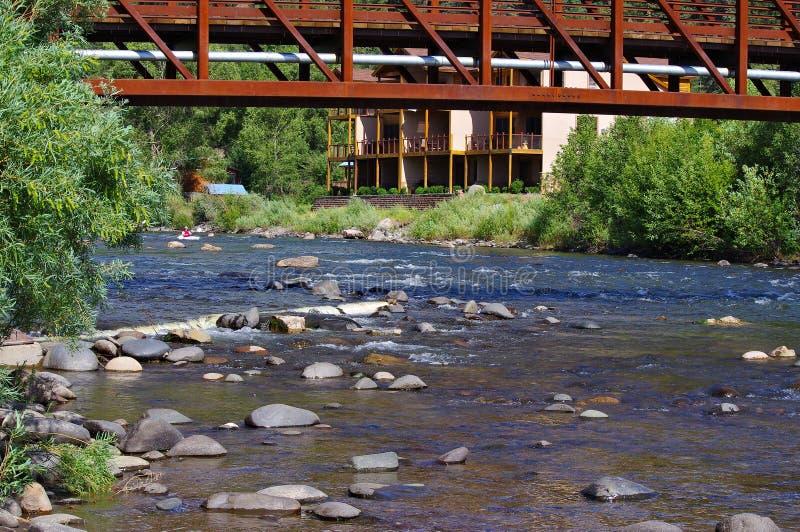 Rocky Stream en las montañas de Colorado fotografía de archivo