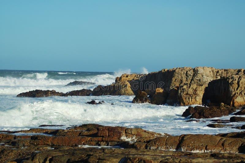 Rocky surf stock photography