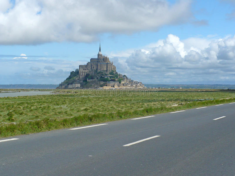 Download Rocky Tidal Island Mont-Saint-Michel Stock Image - Image of meadow, catholicism: 14850097