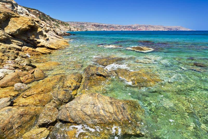 Download Rocky Vai beach on Crete stock image. Image of crete - 26657309