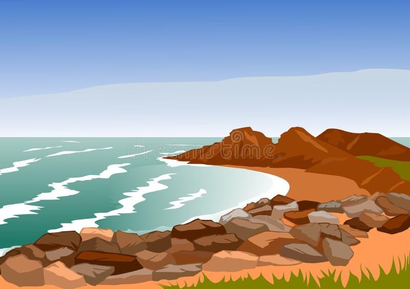 rocky wybrzeże royalty ilustracja
