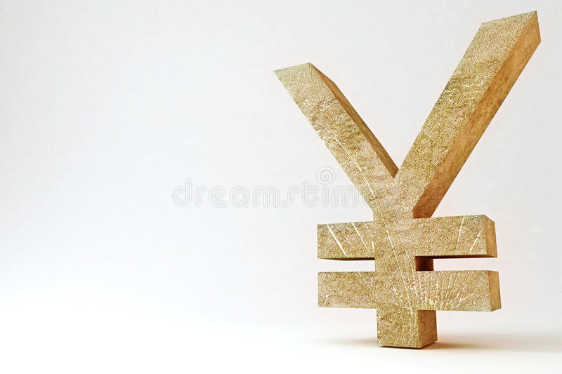 Rocky Yen Symbol stock illustration