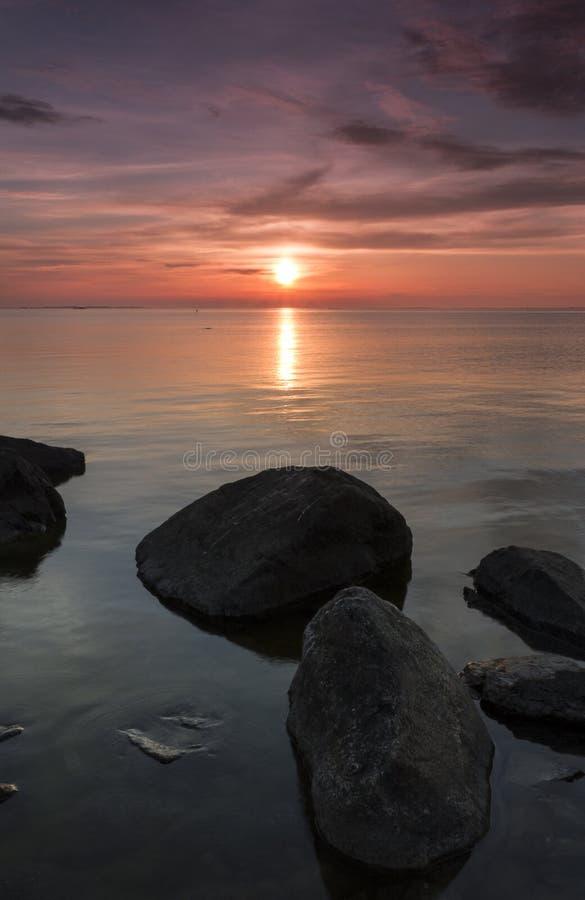 rocky, zachód słońca zdjęcia stock