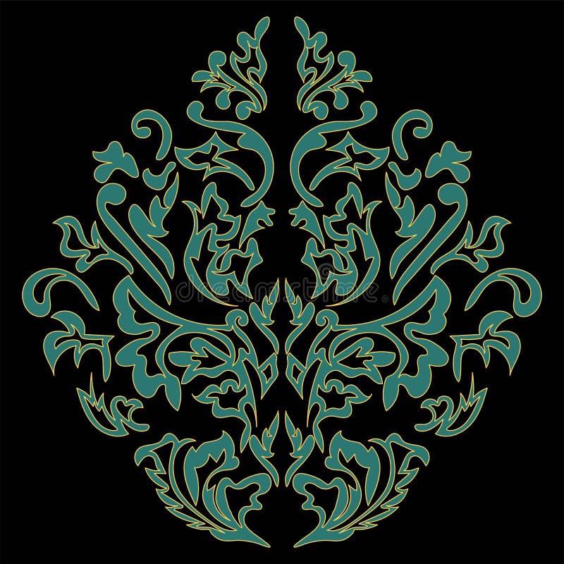 Rococós, elemento barroco, damasco clássico, redemoinhos, rolos, isolados ilustração royalty free