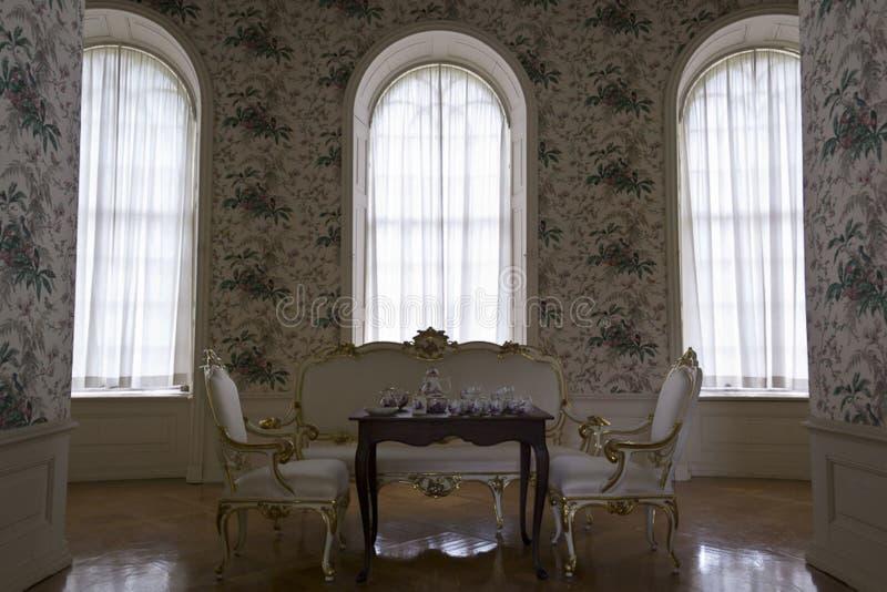Rococo style room stock photography