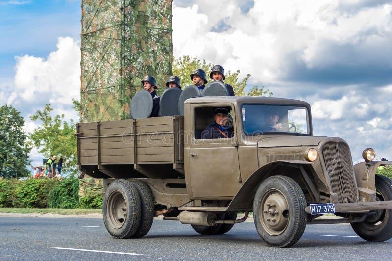 Roczna ceremonia zaznaczać Polskiego siły zbrojne dzień obraz stock