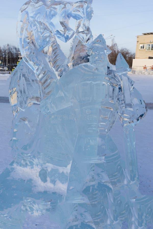 Roczna rywalizacja lodowi kształty, zdjęcie royalty free