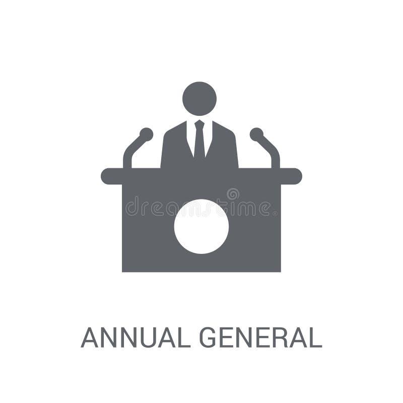 Roczna walne zebranie ikona (AGM)  ilustracja wektor