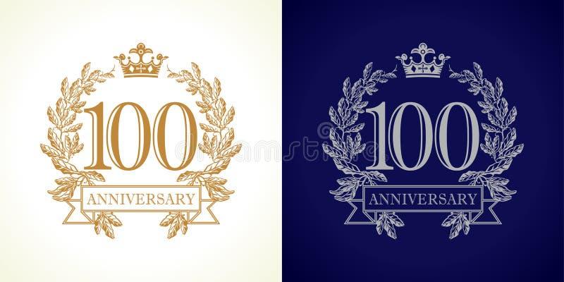 100 rocznic luksusu logo ilustracji