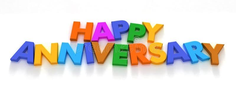 rocznicowi szczęśliwi kapitałowe magnesy list zdjęcia royalty free