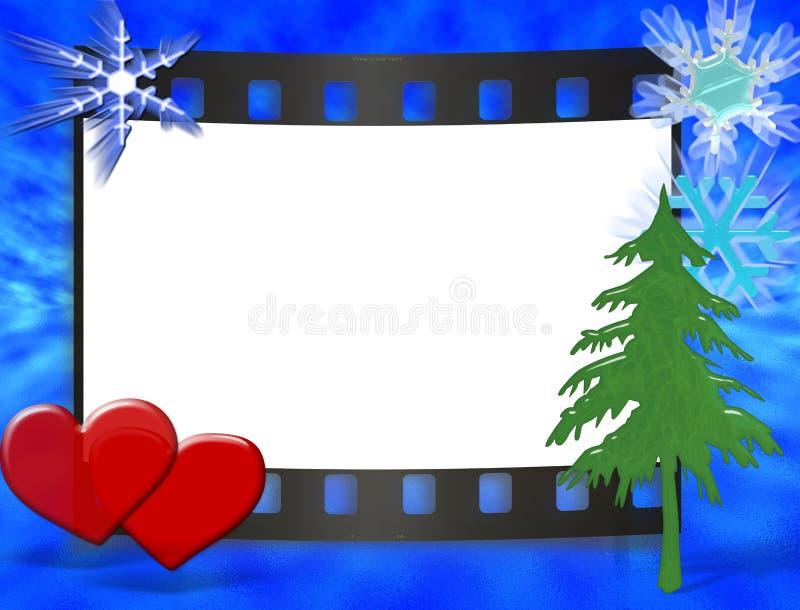 rocznicowych cristmas ramowy ślub ilustracji