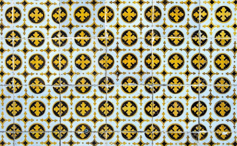 Roczników azulejos, tradycyjne portugalczyk płytki ilustracji