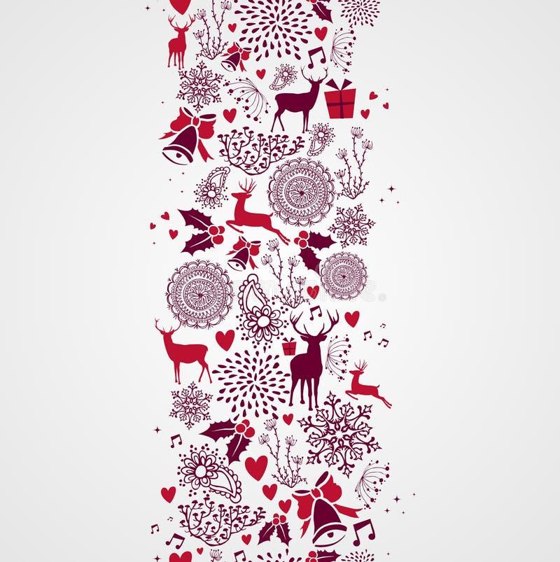 Roczników Bożenarodzeniowych elementów bezszwowy deseniowy backgr ilustracji