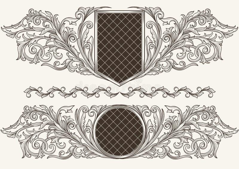 Roczników emblematy ilustracja wektor