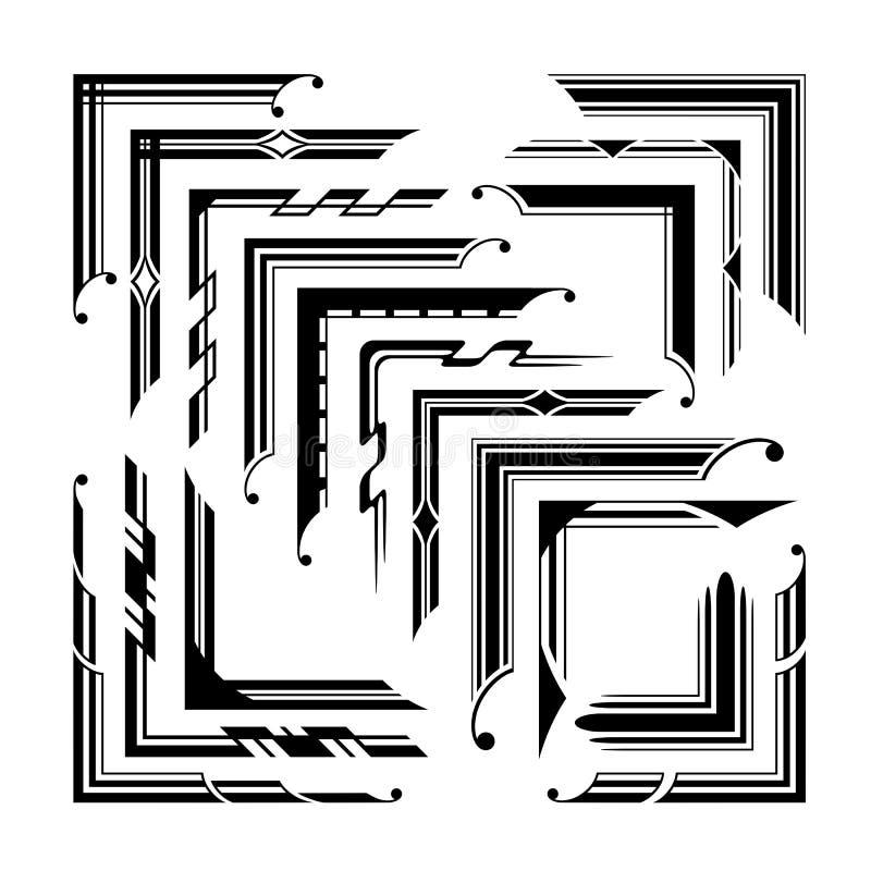 Roczników graficzni kąty ilustracja wektor