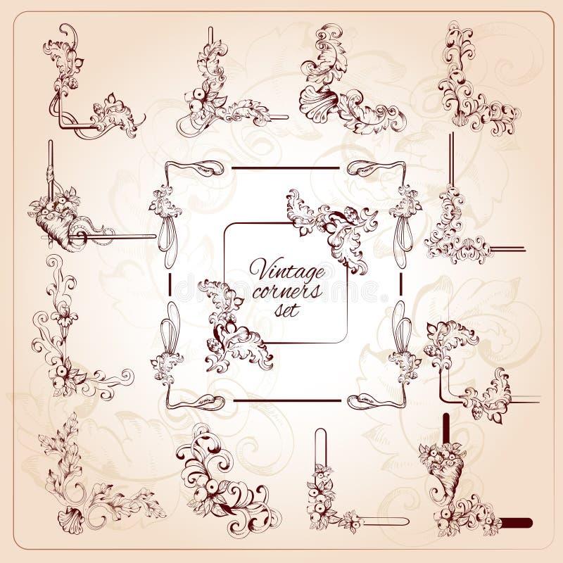 Roczników kąty Ustawiający royalty ilustracja