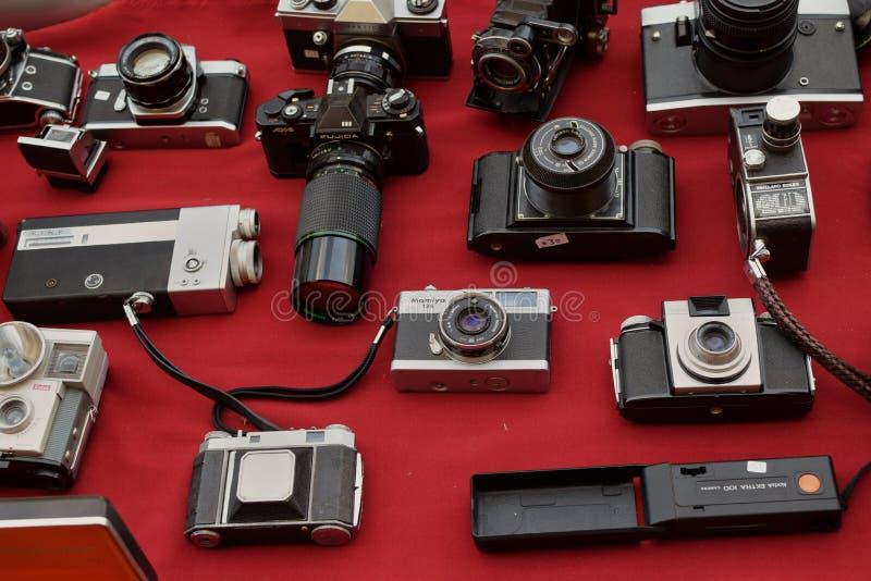 Roczników kamera wideo i fotografia fotografia stock