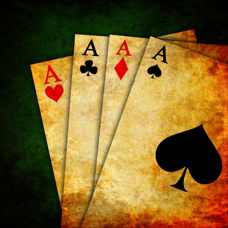 Roczników karta do gry ilustracja wektor