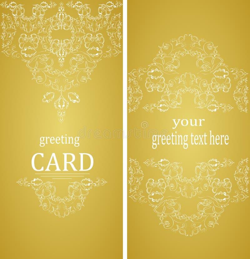 Roczników kartka z pozdrowieniami w wiktoriański stylu ilustracji