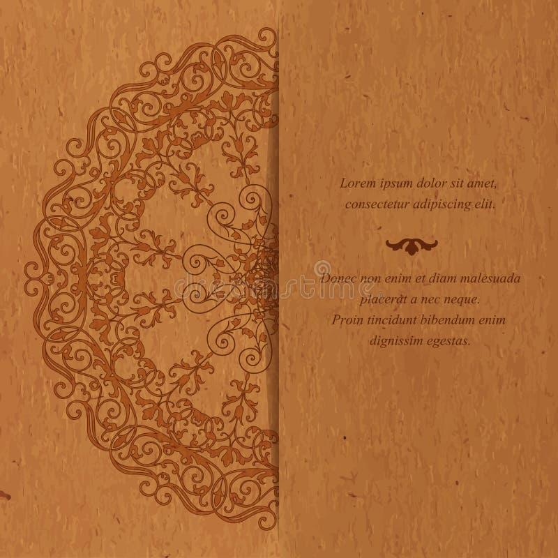 Roczników kartka z pozdrowieniami w wschodnim stylu ilustracji