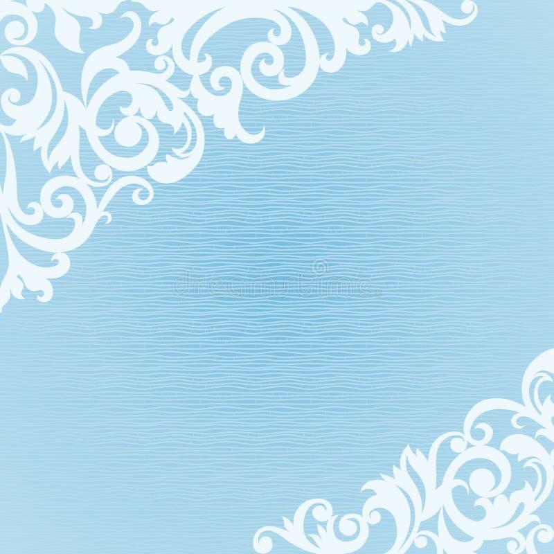 Roczników kartka z pozdrowieniami z kwiecistymi motywami dla nowego roku projekta royalty ilustracja