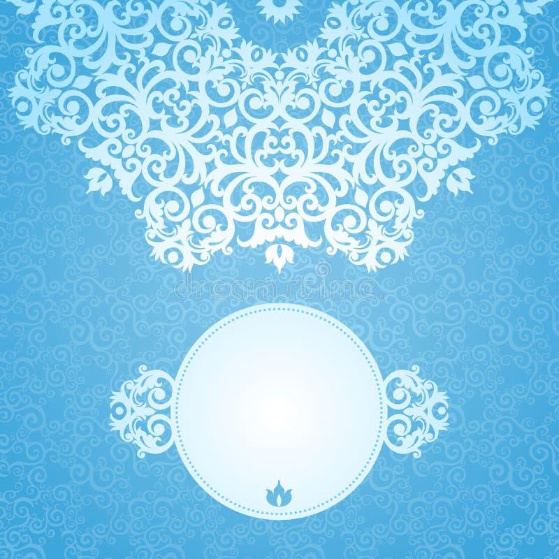 Roczników kartka z pozdrowieniami z kwiecistymi motywami dla nowego roku projekta ilustracja wektor