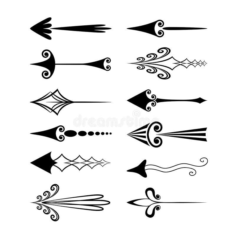 Roczników kursory strzała lub ilustracja wektor