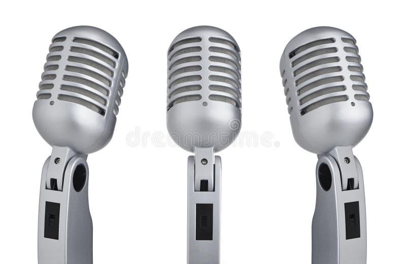 Roczników mikrofony zdjęcia stock