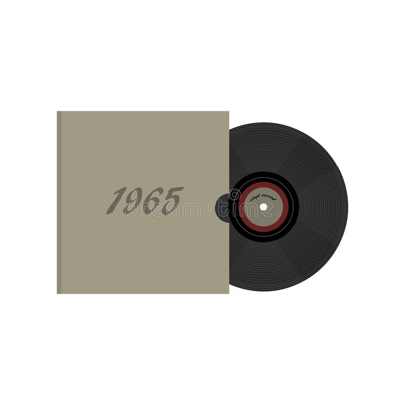 Roczników 80 ` s retro winylowy rejestr Nostalgia 80s ilustracja wektor