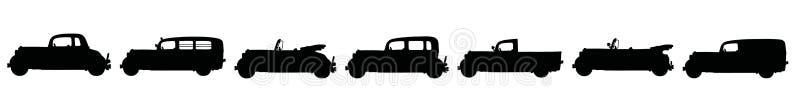 Roczników samochody ilustracji